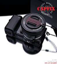 Gariz Genuine Leather XA-CFS1650B RCamera Capfix Cap Fixs for SONY 16-50mm NEX-6 NEX-5 RBrown