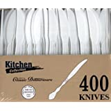 Blue Sky 400-Piece Disposable Plastic Knive Set, White