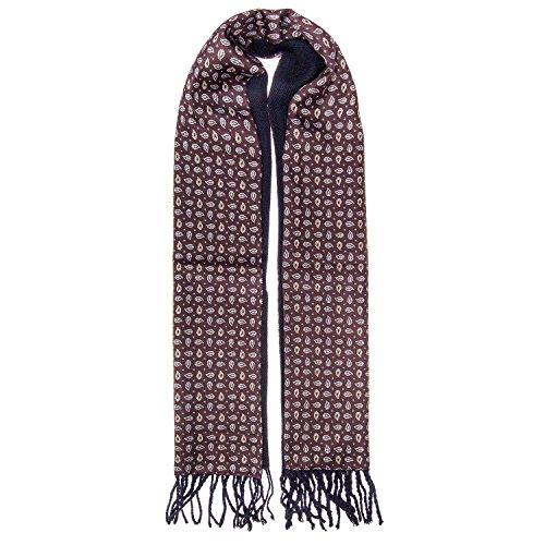 Elegante Double Face sciarpa, Business, diverse varianti, 27x 138cm Rot Taglia unica