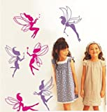 Deluxe Fairy Wall Stickers - Removable and Repositionable - Girls / Kids Bedroom from Wall Stickers Warehouse