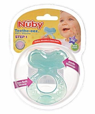 Nuby Teethe-eez Teether - green, one size by Nuby