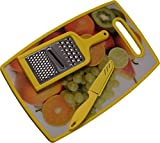 Chrome 3723DY Plastic Cutting Board, Yellow