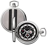 Colibri Pocket Watch Stainless Steel with carbon Fiber PWQ099900