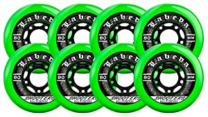 LABEDA WHEELS Inline Roller Hockey SHOOTER 76mm 83A x8 by Labeda