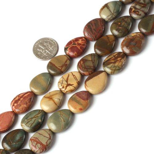 13x18mm drip gemstone picasso jasper beads strand 15