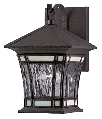 Westinghouse Lighting 6486400 One Light Exterior Wall Lantern Textured Rust Patina On Solid