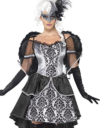 Smiffys Women's Dark Angel Masquerade Costume
