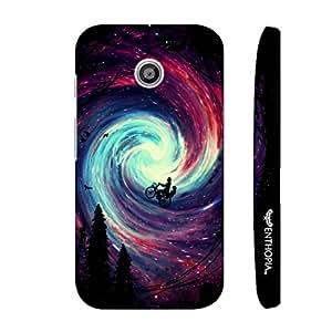 Motorola Moto E 1st Gen Riding in the Sky designer mobile hard shell case by Enthopia