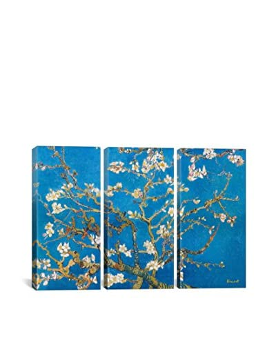 Vincent Van Gogh Almond Blossom Gallery Wrapped Canvas Print, Triptych