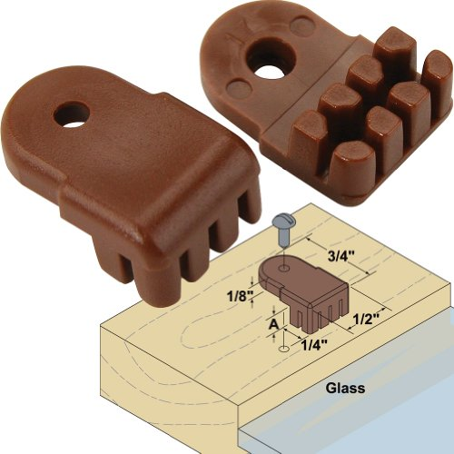 Platte River 866700, 5-pack Of 10 Each, Hardware, Glass Door, Glass Retainers, . 187
