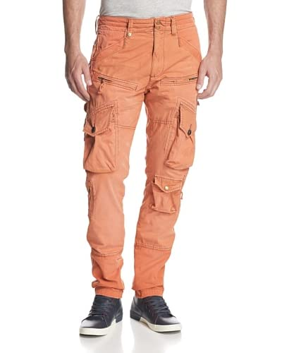 PRPS Men's Savoy Slim Fit Washed Cargo Pant