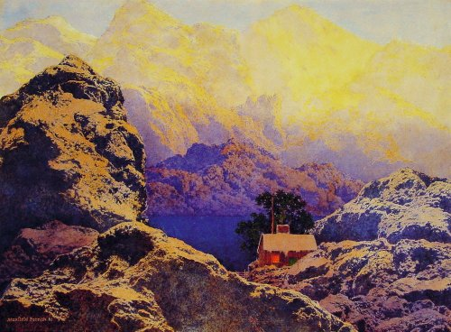 Getting Away From It All by Maxfield Parrish