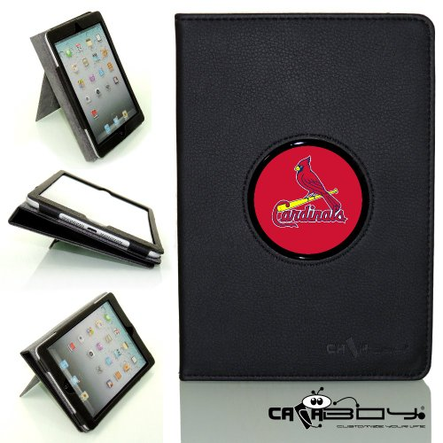 New SLEEP SMART Apple iPad Air (5th Gen) Ipad 5 leather Case By Calaboy- Interchangeable Design - Personalized Picture Frame w St. Louis Cardinals Logo (BB59) at Amazon.com