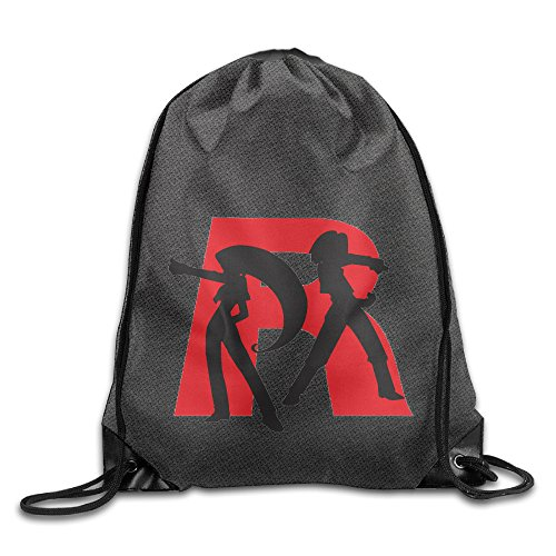 Unisex Team Rocket Sports Drawstring Backpack Bag Cool (Jessie From Team Rocket)