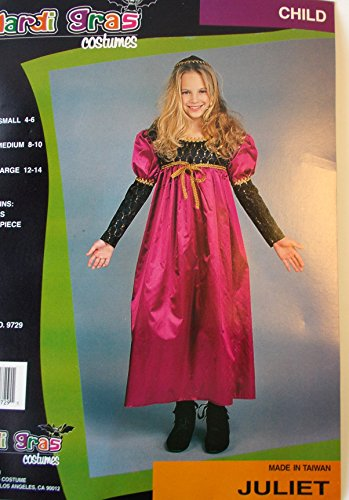 Juliet Renaissance Child Costume Dress 4-6 NIP