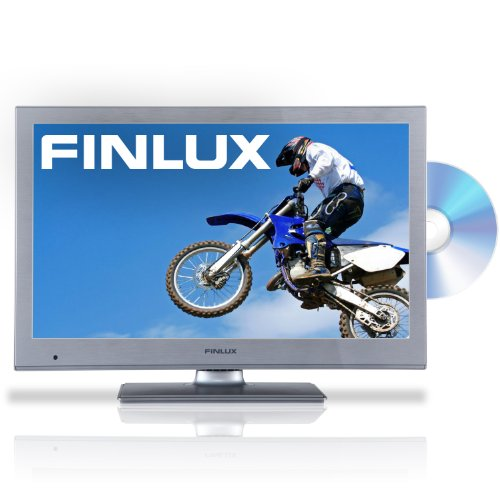 Finlux 24F6030S-D 24 Inch Widescreen Full HD 1080p LED Multi-Region DVD Combi TV with Freeview & PVR, Silver