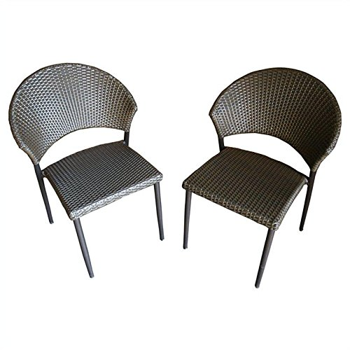 Outdoor Great Room Patio Bistro Chairs- Set of 2 photo