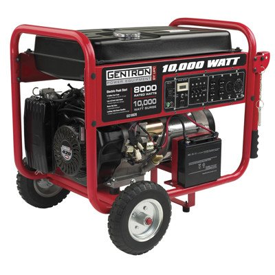 Gentron Portable Gas Generator with Electric Push Start, 8,000 Running Watts, 10,000 Peak Watts