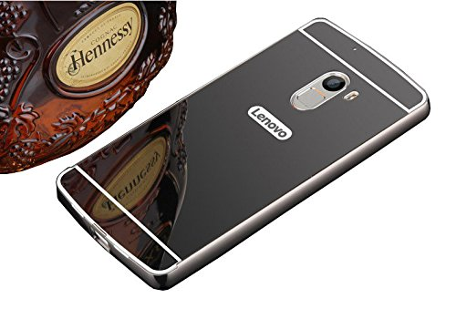 buy online f2983 9aeae SDO™ Metal Bumper Frame Case with Acrylic Mirror Back Cover Case for Lenovo  Vibe K4 Note (Black)