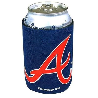 MLB Atlanta Braves Neoprene Can Holder 4 Pack Set, Kolder, Navy Blue