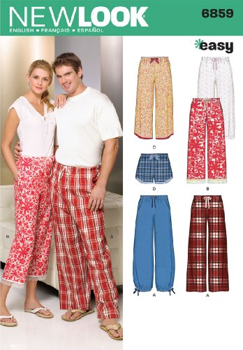 New Look Sewing Pattern 6859 Miss/Men Separates, Size A (XS-S-M-L-XL) (New Sewing Patterns compare prices)