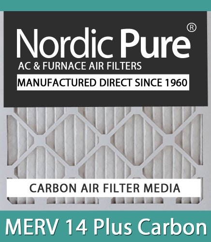 Nordic Pure 12x24x4M14C-2 MERV 14 Plus Carbon AC Furnace Air Filters Qty-2 at Sears.com