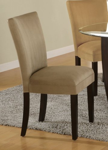 Black friday Parson Chair Set of 2 in Taupe Microfiber