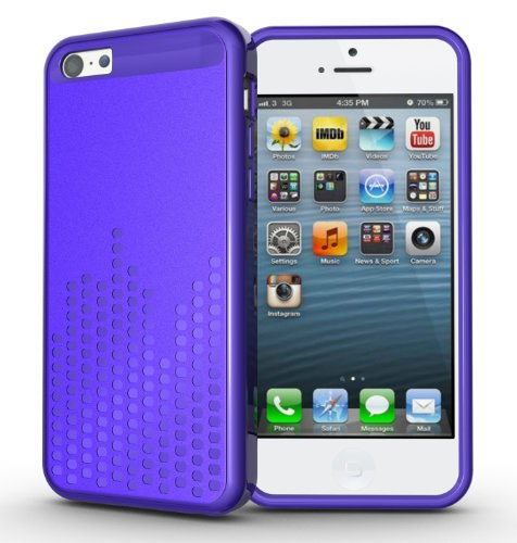 Tudia Ultra Slim Melody Series Tpu Protective Case For Iphone 5C (Purple)