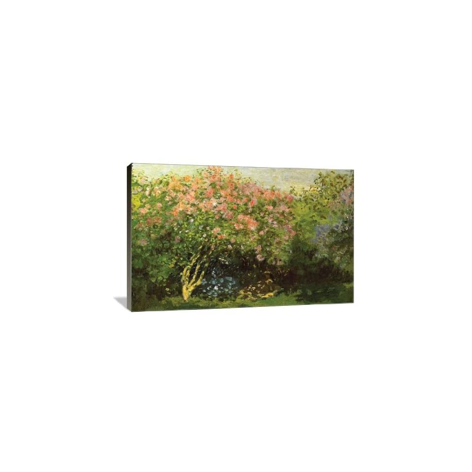 Lilacs in the Sun   Gallery Wrapped Canvas   Museum Quality  Size 48 x 32 by Claude Monet