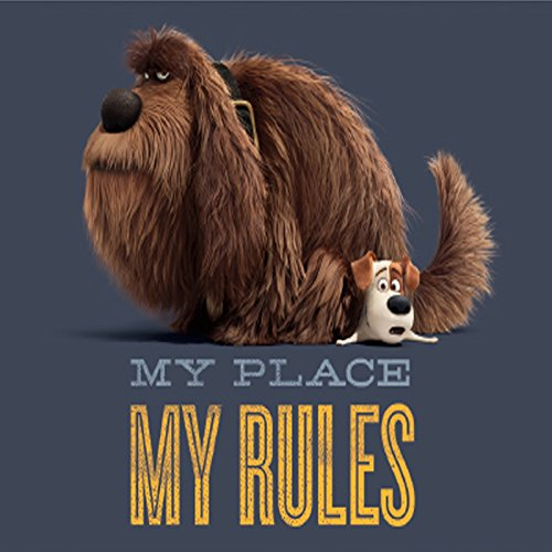 The Secret Life of Pets - MY PLACE MY RULES, Premium Quality Licensed MAGNET MAGNETE