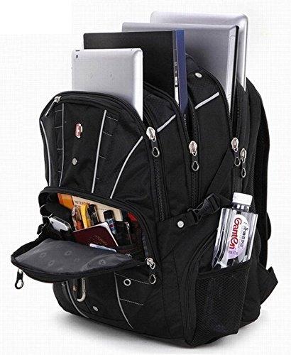 Swiss Travel Gear Travel Backpack Bags Knapsack,rucksack Students School Shoulder 15 Inch Laptop Macbook Computer notebook tablet Business for man
