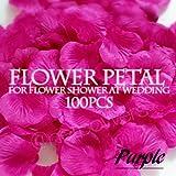 Amazon.co.jpNPオリジナル『フラワーぺタル・紫(パープル)100枚(造花のはなびら)』フラワーシャワー花びら