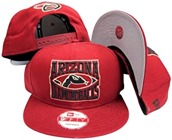 Arizona Diamondbacks Red Plastic Snapback Adjustable Plastic Snap Back Hat Cap by New Era