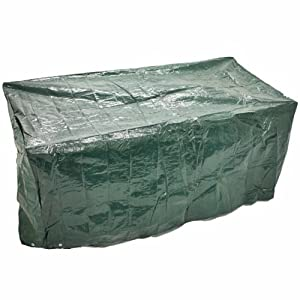 WOODSIDE 3 SEATER 1.5M 5FT GARDEN BENCH COVER WATERPROOF FURNITURE SEAT