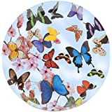 Splash 36 cm Diameter Round Tray in Butterfly Design