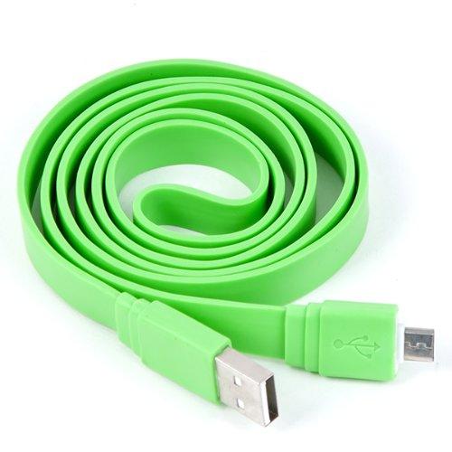 Clarkson® USB Datenkabel flach für amplicom PowerTel M7000 in hellgrün