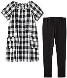 アビックス マミールナ マタニティパジャマ半袖(授乳口付き) M~L ブラック 平織 867310
