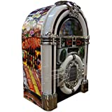 Casino Table Top Stereo Jukebox with Built-in iPod Dock, CD Player, Radio & 3.5mm Jack - Limited Edition (Casino)
