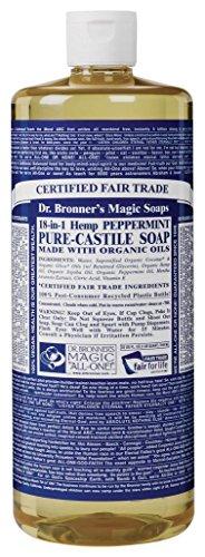 Dr Bronners Castile Peppermint Liquid Soap, 32 Ounce -- 3 Per Case.