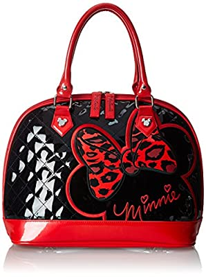 Disney Minnie Quilted Tote Top Handle Bag by Disney