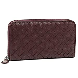 Bottega Veneta BOTTEGA VENETA wallets purse Bottega Veneta wallet BOTTEGA VENETA 114076 V001N5023 intrecciato zip around wallet AUBERGINE