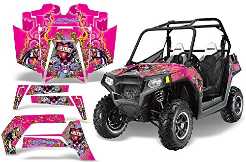 Polaris Predator 500 graphics sticker kit NO3333 Hot Pink