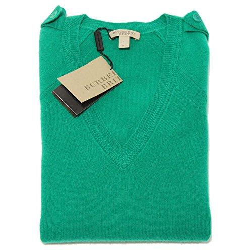 4024F maglione BURBERRY BRIT CACHEMIRE MANICA 3/4 maglia donna sweater [S]