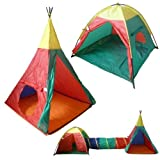 3 Piece Kids Pop Up Play Tents And Tunnel Set by Rose Evans
