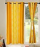 Kings Polycotton 1pcs yellow Geometrical Window Curtains