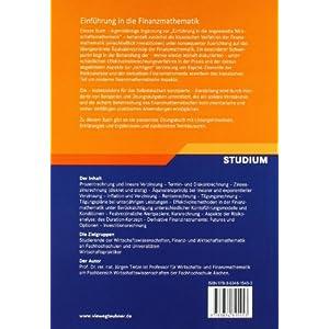 Einführung in die Finanzmathematik: Klassische Verfahren und neuere Entwicklungen: Effektivzins- un