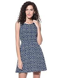 Wisstler Women's Blue Poly Crepe Dress Size - Medium