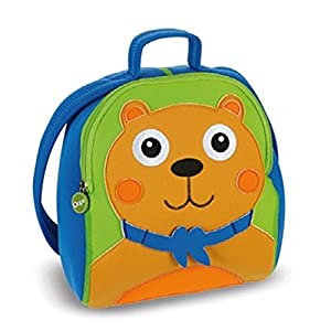 Oops Little Helper Thick Impenetrable and Fully Waterproof Neoprene Rucksack with Adorable 4D Bear Appliqué (Multi-Coloured)