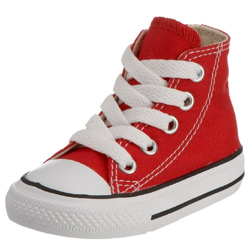 Converse All Star Children's Core Hi Canvas Infants Red 7J232 2 Child UK