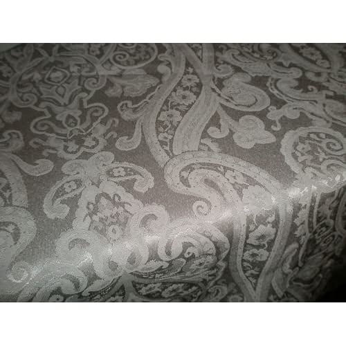 Amazon.com - Ralph Lauren Silver Paisley Table Cloth 70x104in